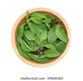 Top view of Basil flower isolated on white background