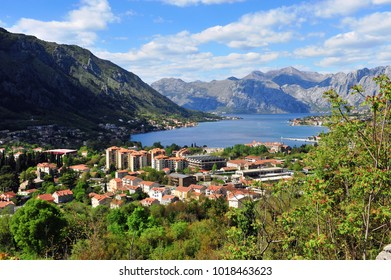 Top view of the bay in Kotor, Montenegro