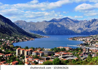 Top view of the bay in mountains, Montenegro
