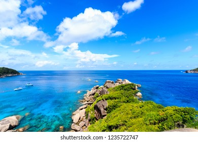 Top view of the Bay Similan Islands.