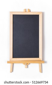 Top view black board on white background for montage or display your text advertise or product.