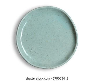 Top view of blank dish isolated on a white background.