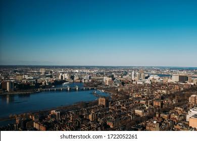 Top View of Boston - Massachusetts -USA