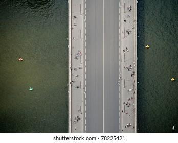 Top view at bridge