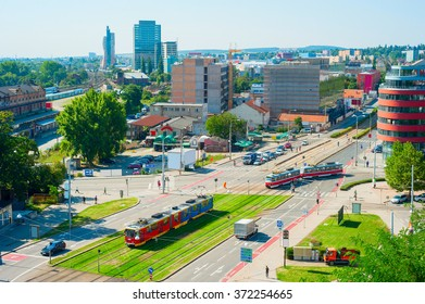Top view of Brno downtown, Czech Republic
