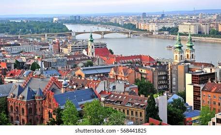 Top view of Budapest city, Hungary