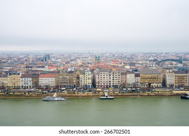 top view of Budapest, Pest shore