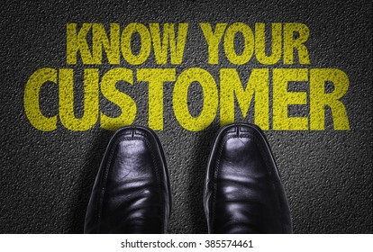 Top View of Business Shoes on the floor with the text: Know Your Customer