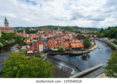 Top view of Cesky Krumlov, Czech