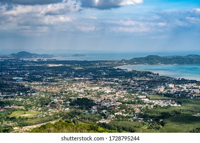 Top view of Chalong Bay, Phuket Thailand