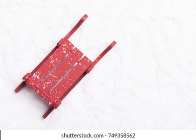 Top view of a Christmas sleigh