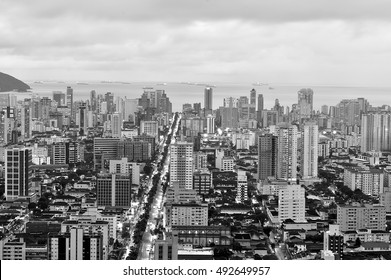 Top view of the city of Santos, in Brazil