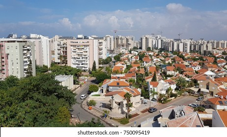 top view cityscape Israel landscape building and houses