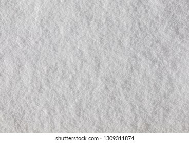 Top View Close Up Snowy White Texture Background
