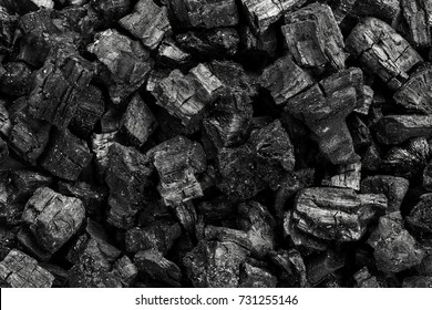 Top view of coal mine deposit mineral black  for background. Used as fuel for industrial coal.