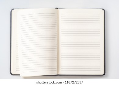 Top view collection of notebook front