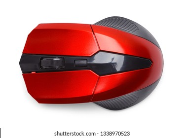 Top View of Computer Mouse Isolated on White.