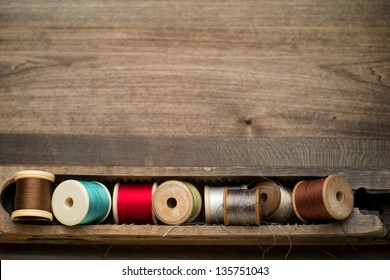 Top View Cotton Reels