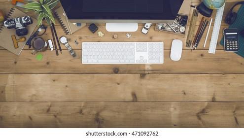 Top view desk