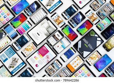 top view of a devices collection