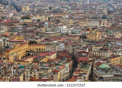 Top view of downtown Naples, Italy
