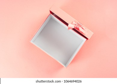 Top view of empty open gift box