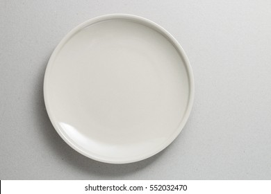 Top view empty plate