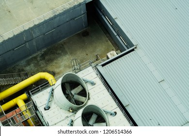 top view of factory