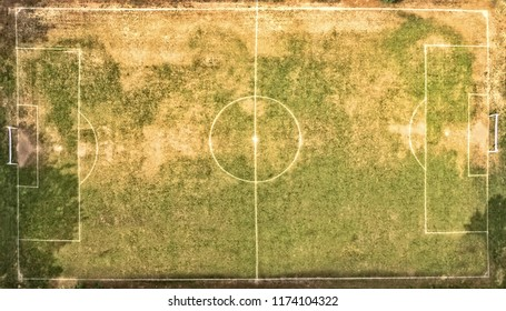 top view of a football field