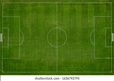 Top view of football field