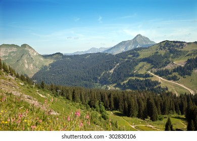 The top view of French Alps near from Morzin