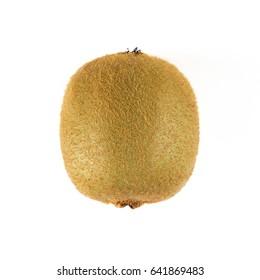 Top view of fresh Kiwi fruit isolated on white background.
