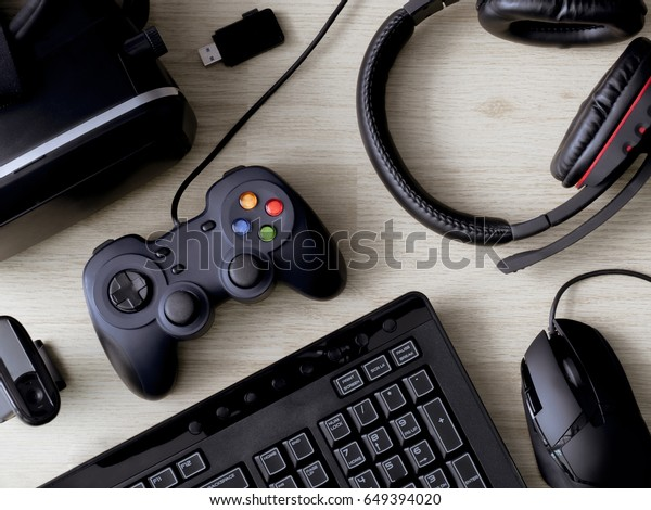 Top View Gaming Gear Mouse Keyboard Stock Photo (Edit Now) 649394020