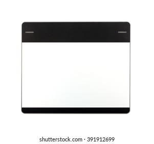 Top view of Graphic tablet isolated on white background