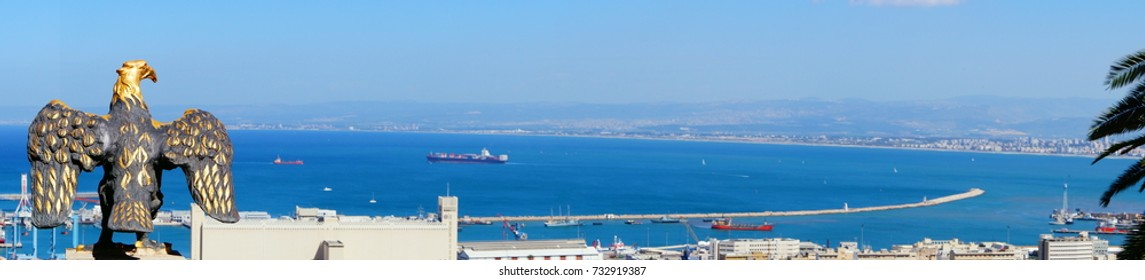 Top view of Haifa