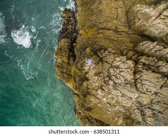 Top view of Hermanus coastal town, Cape Town, South Africa