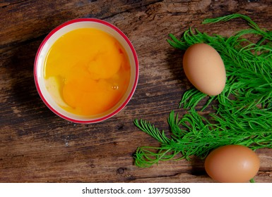 Top view image Omelette ingredients