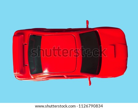 Top View Image Red Toy Car Stock Photo Edit Now 1126790834