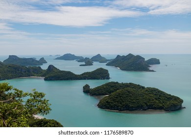 Top view of island nature, Mu Koh Angthong Nationnal Park, Koh Samui Thailand