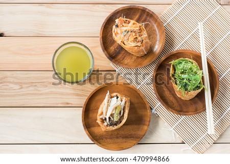 Top View Japanese Food Inari Sushi Stock Photo Edit Now 470994866