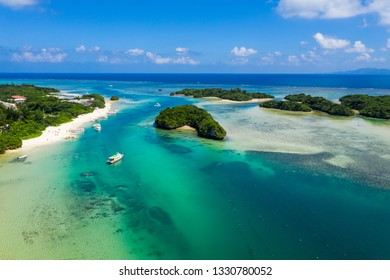 Top view of Kabira Bay in ishigaki island of Japan