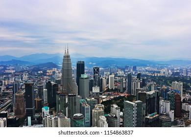 The top view of Kualalumpur city.