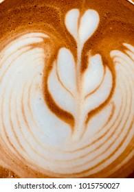 Top view, Latte art coffee