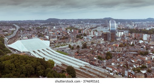 Top view of Liege, vintage style