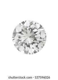 top view of loose brilliant round diamonds on white background high quality