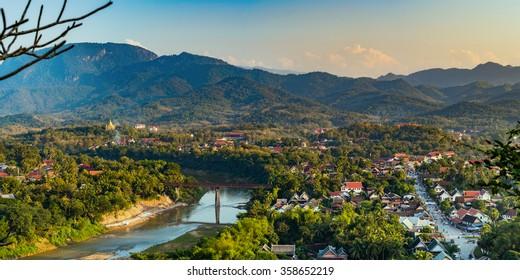Top view of Luang Prabang, Laos