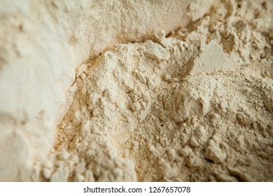 top view of Maca Powder, Maca is a Peruvian very nutritional food and also an aphrodisiac used in many ways, it helps to gain physical strength and stamina. Many people say it helps sexual performance