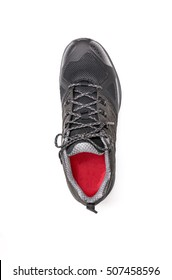 Top view men shoe on white background