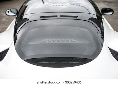 Top view of modern sports car.