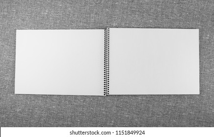 Top view notebook on gray texture. Concept for education and business